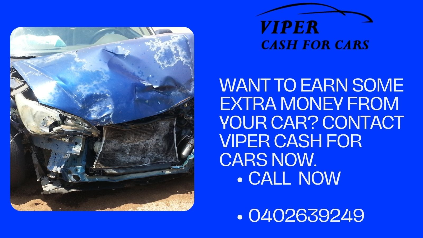 Want to earn some extra money from your car? Contact Viper cash for cars now.